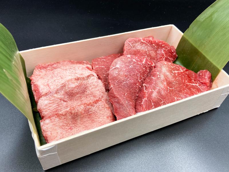 厚切り牛タンと赤身肉のステーキセット