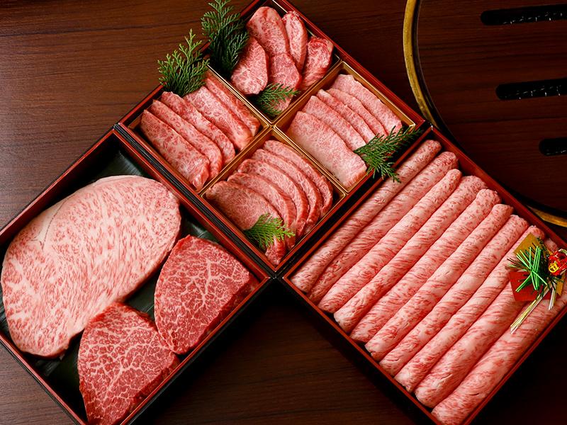 黒毛和牛おせち三段重 三種食べ比べセット