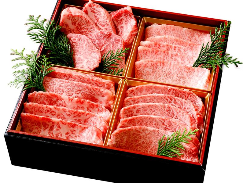 【寿】焼肉四部位食べ比べ