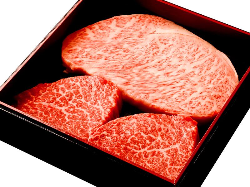 【日の出】厚切りステーキカット